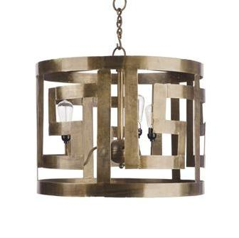 Greek Key Inspired Chandelier - CENTURIA