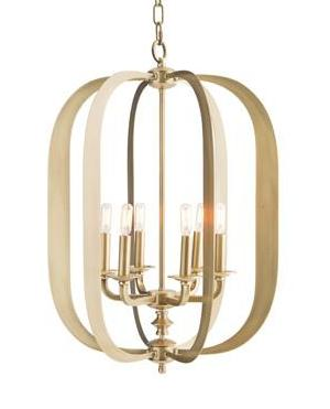 Brass Oblong Transitional Chandelier - CENTURIA
