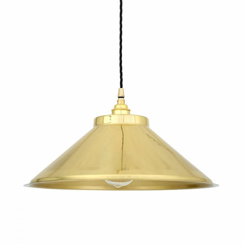 Solid Brass Vintage Inspired Pendant Light - CENTURIA