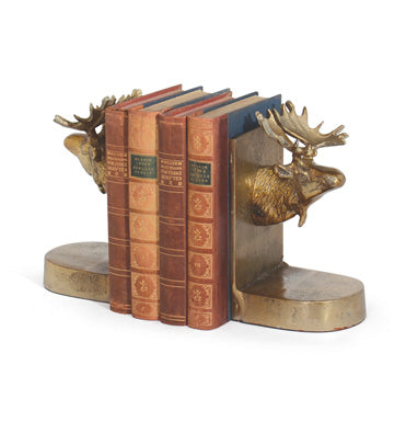 Brass Moose Bookends-A Pair - CENTURIA
