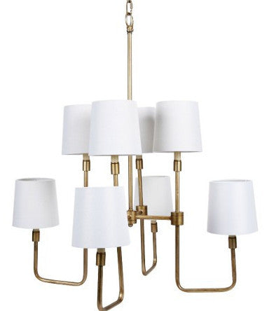 Transitional Brass Chandelier - CENTURIA