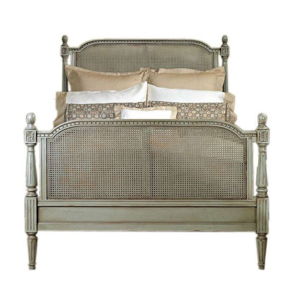French Cane Bed Louis XVI Style -Queen Size - CENTURIA