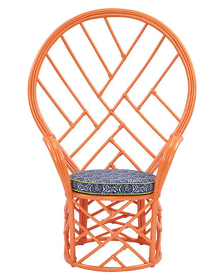 Chinoiserie Style Peacock Chair - CENTURIA
