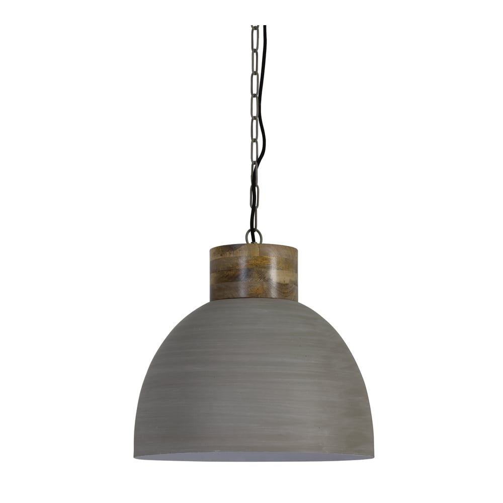 Concrete Finish Pendant Light - CENTURIA