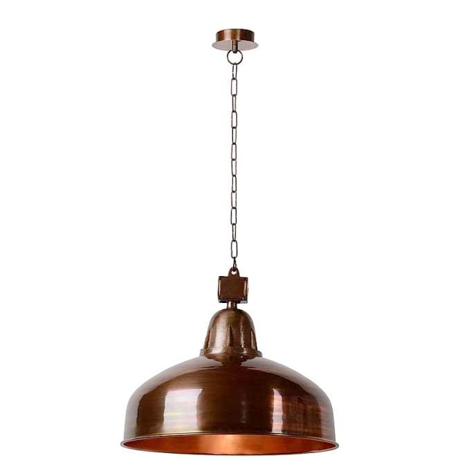 Rustic Copper Pendant Light