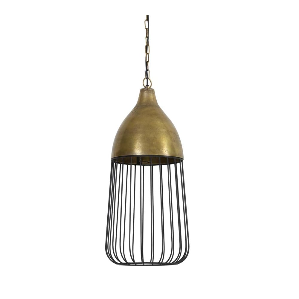 Danish Inspired Brass Caged Light - CENTURIA