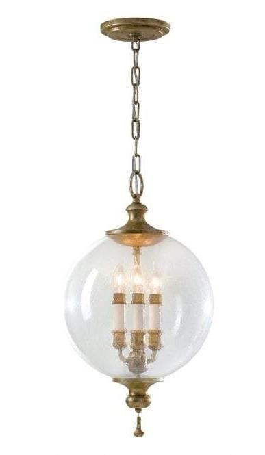 Deco Inspired Three Light Globe Pendant Light - CENTURIA