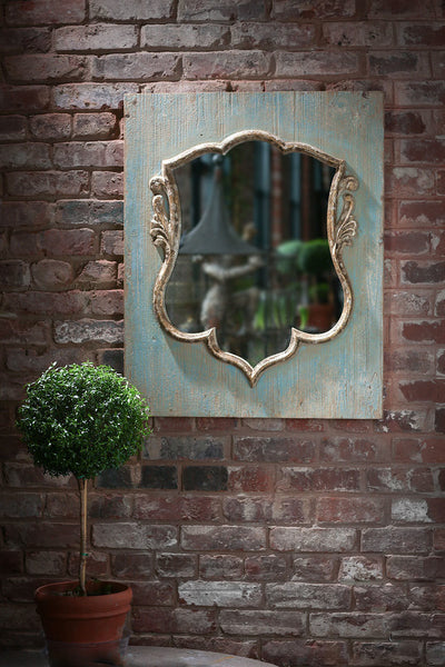 Shield Mirror on Reclaimed Wood - CENTURIA