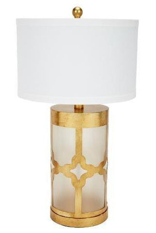 Geometric Gold Glass Table Lamp - CENTURIA