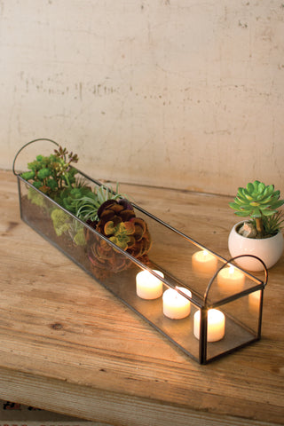 Glass Rectangular Greenhouse Tray - CENTURIA