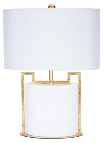 Modern Glossy White Table Lamp - CENTURIA
