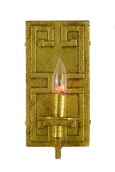 Gold Greek Key Motif Sconce - CENTURIA