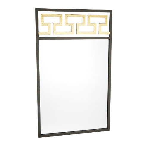 Greek Inspired Grey and Gold Mirror - CENTURIA