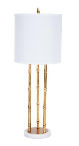 Gold Faux Bamboo Lamp - CENTURIA
