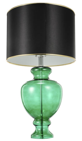 Green Glass Table Lamp - CENTURIA