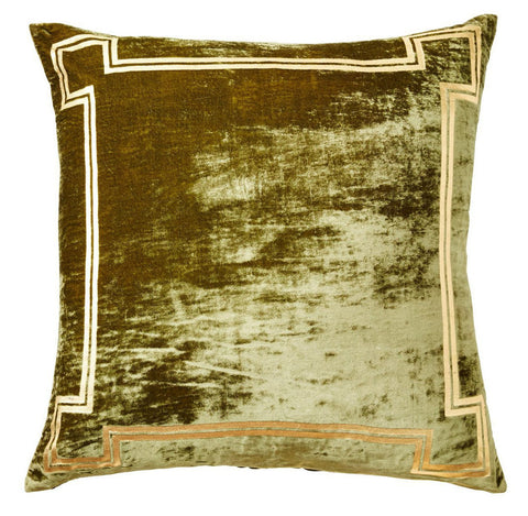 Georgian Velvet Green Pillow