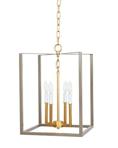 Grey and Gold Transitional Lantern - CENTURIA
