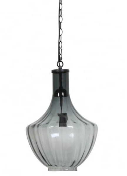 Grey Smoke Glass Pendant Light - CENTURIA