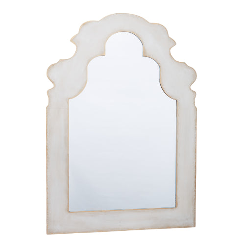 Grey Washed Serpentine Mirror - CENTURIA
