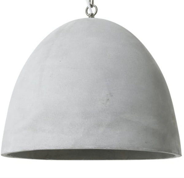 Grey Concrete Dome Pendant Light - CENTURIA