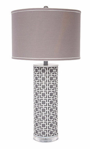 Geometric Grey Metal Lamp - CENTURIA