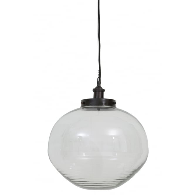 Antique Style Glass Globe Pendant Light - CENTURIA