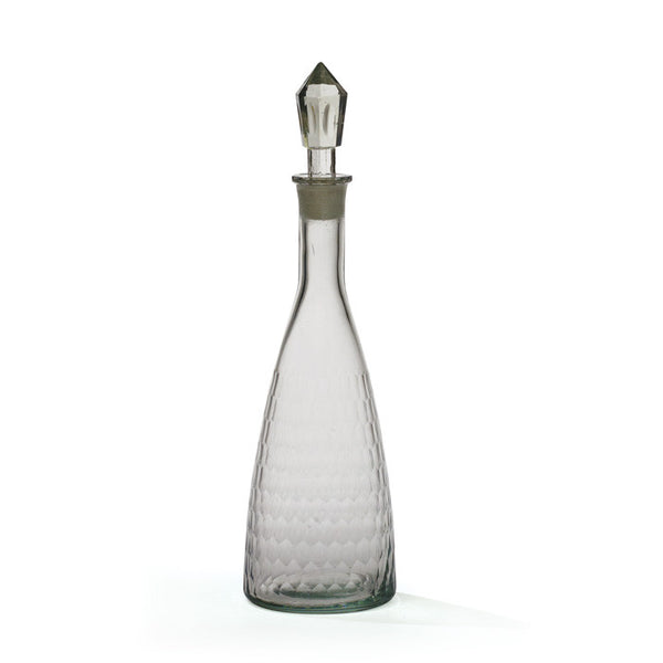 Honeycomb Etched Glass Decanter - CENTURIA