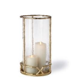 West Indies Bamboo Hurricane Lantern-Large - CENTURIA
