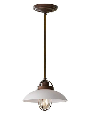 Small Industrial Bronze Patina Pendant - CENTURIA