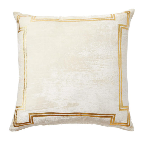 Georgian Ivory and Gold Velvet Pillow - CENTURIA