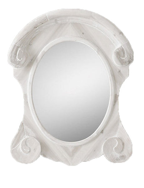 X-Large Round White Mirror - CENTURIA