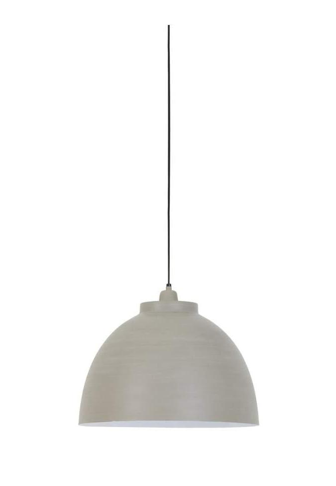 Concrete White Finish Pendant Light - CENTURIA