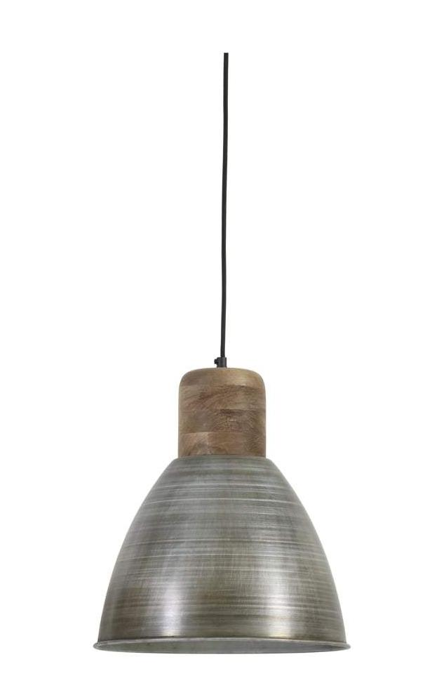 Ismay Antique Silver and Weathered Wood Pendant - CENTURIA