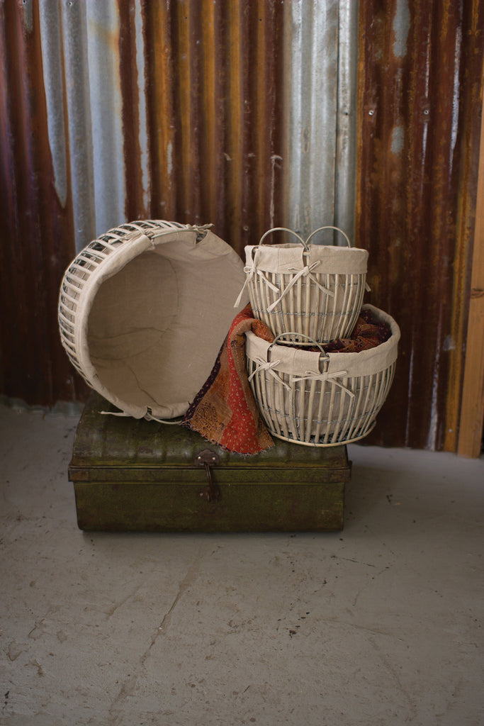Grey Willow Baskets Set/3 - CENTURIA