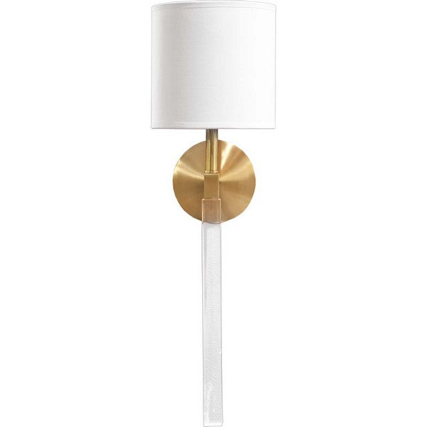 Lucite and Brass Modern Sconce - CENTURIA