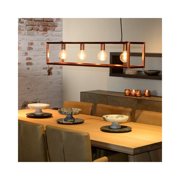 Modern Copper Rectangular Chandelier - CENTURIA