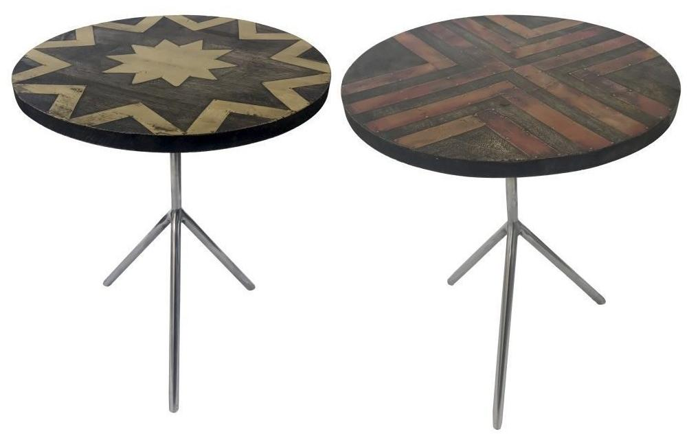 Geometric Industrial Style Side Tables Set/2 - CENTURIA