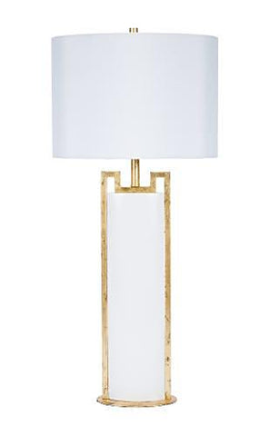 Modern Glossy White and Gold Lamp - CENTURIA