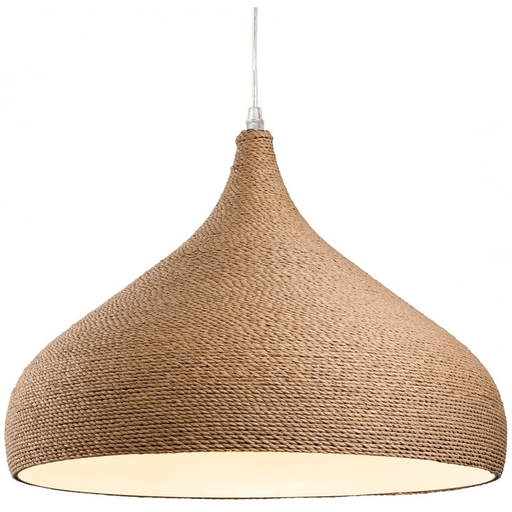 Modern Rope Tear Drop Pendant Light - CENTURIA