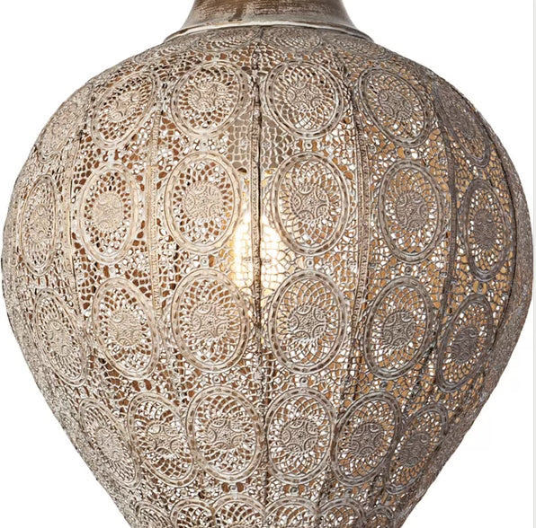 Moroccan Style Globe Fixture With Patina - CENTURIA