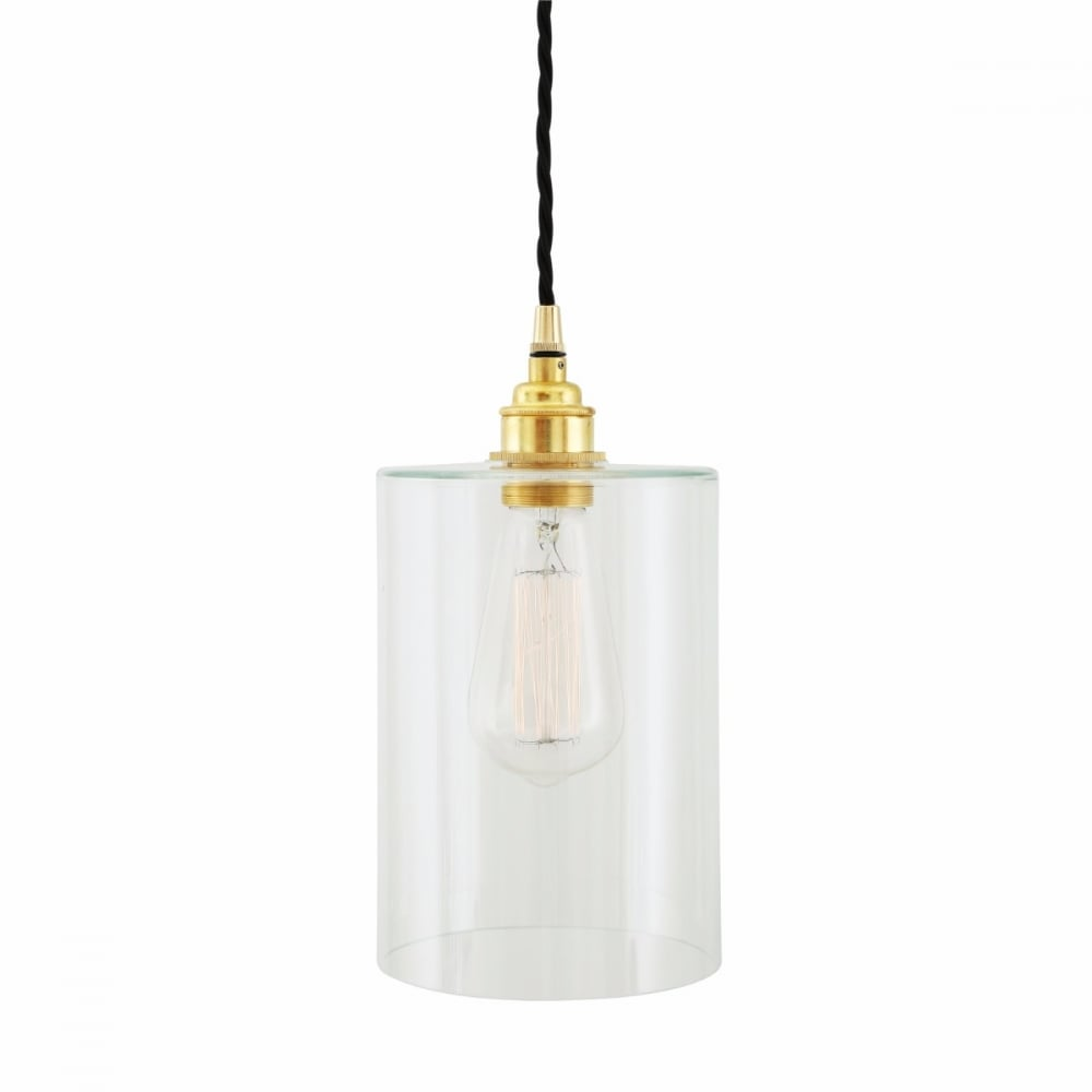 Glass Pendant With Brass Accent - CENTURIA