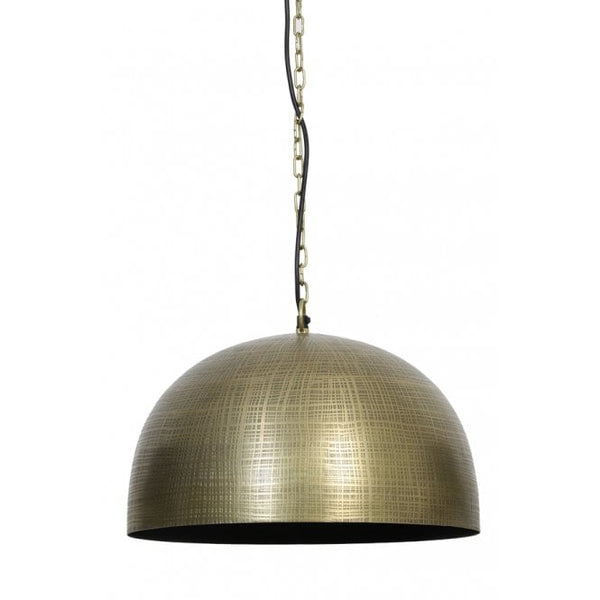 Large Modern Antique Brass Dome Light