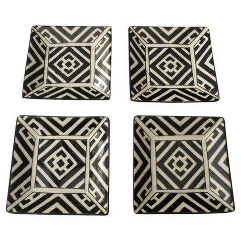 Handpainted Moroccan Style Appetizer Plates-Set of 4 - CENTURIA