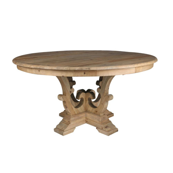 Carved Reclaimed Dining Table - CENTURIA
