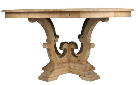 Carved Reclaimed Dining Table