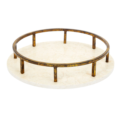 Ivory Marble and Gold Tray - CENTURIA
