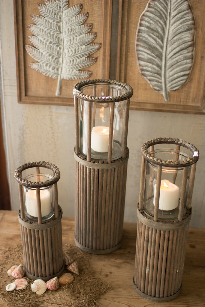 Rope and Rattan Lanterns-Set/3 - CENTURIA