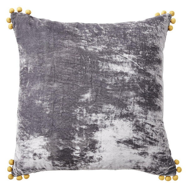 Silk Velvet Pom Pom Pillow
