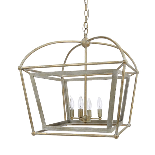Silver and Gold Lantern Fixture - CENTURIA