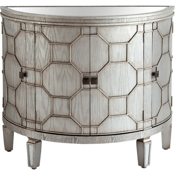 Hollywood Regency Style Rounded Cabinet